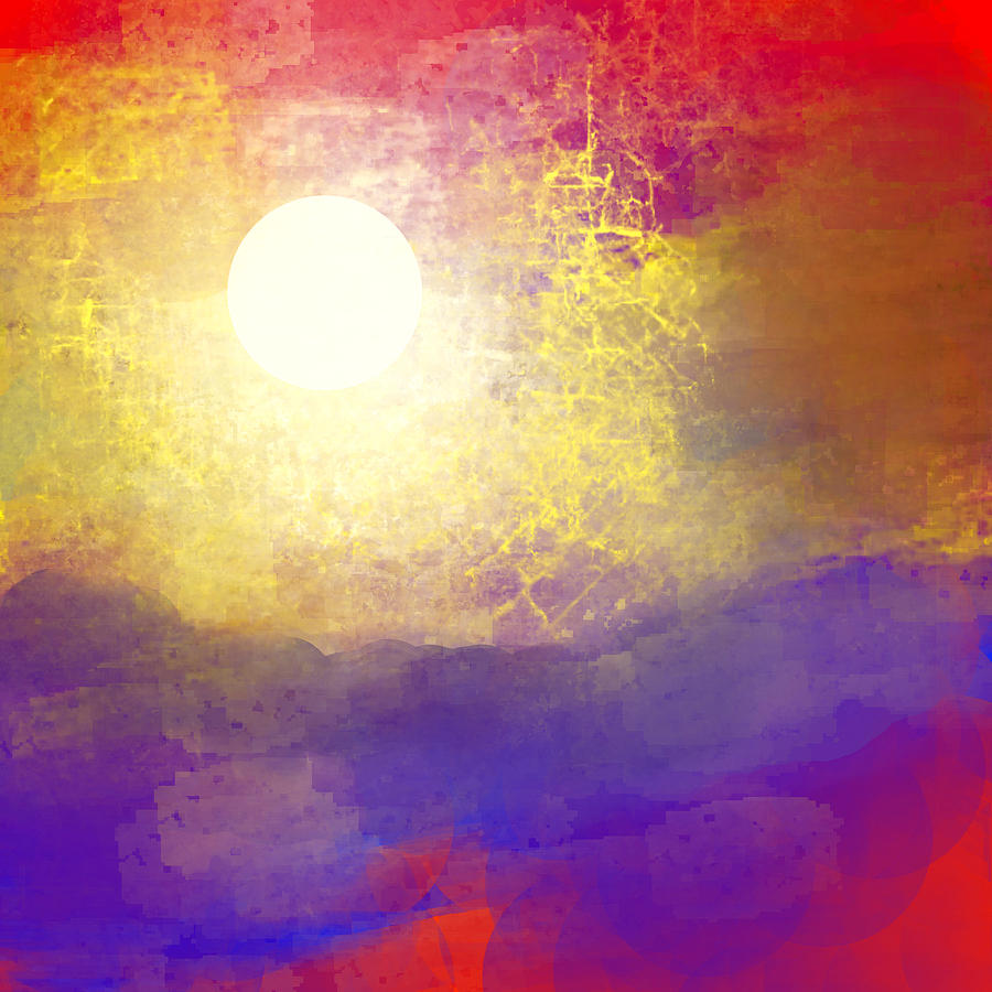 Canyon Painting - Sun Over The Canyon by Jessica Wright