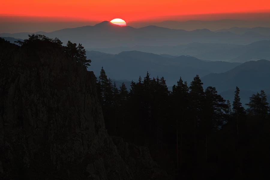 Sun Photograph - Sun Over The Mountain  by Svetoslav Sokolov