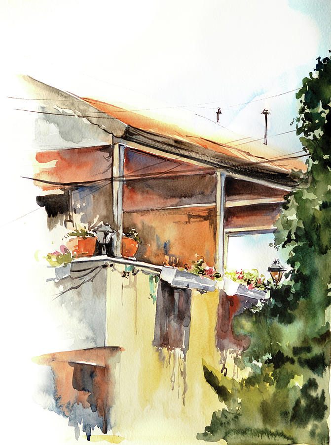 Painting Painting - Sun Porch by Sophia Rodionov