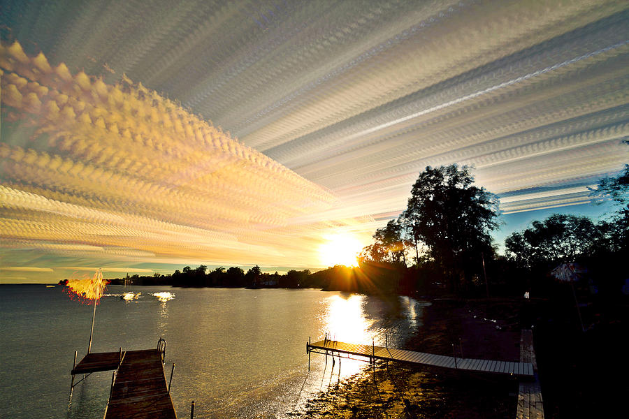 Landscape Photograph - Sun Rays And Wind Streams by Matt Molloy