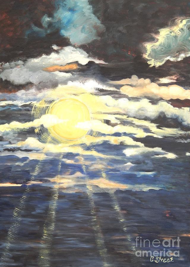 Sun Painting - Rays Of Light by Caroline Street