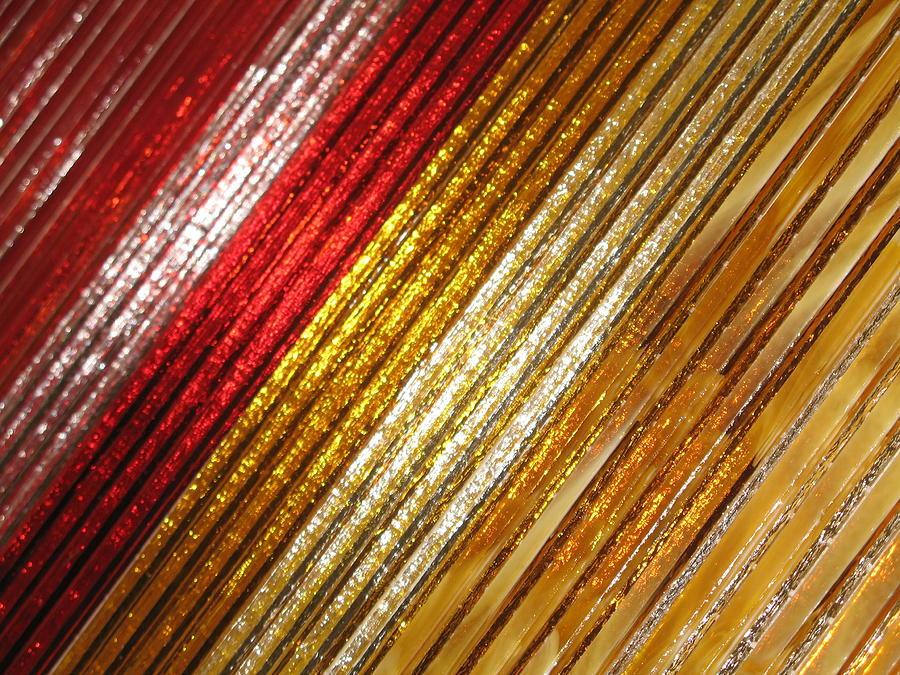 Fused Glass Art - Sun Rays by Steven Schramek