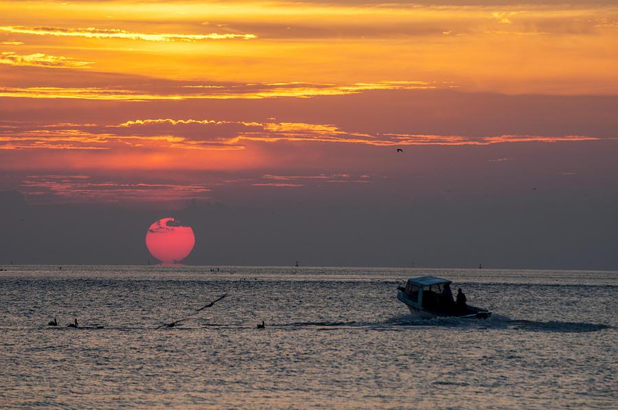 Sun Rise On Charleston Bay Photograph