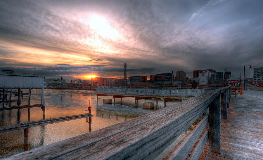 Erie Pa Photograph - Sun Rise Over Erie Pa by Brian Fisher