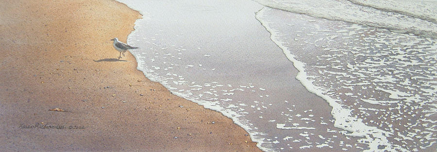 Watercolor Painting - Sun Sand And Sea by Karen Richardson