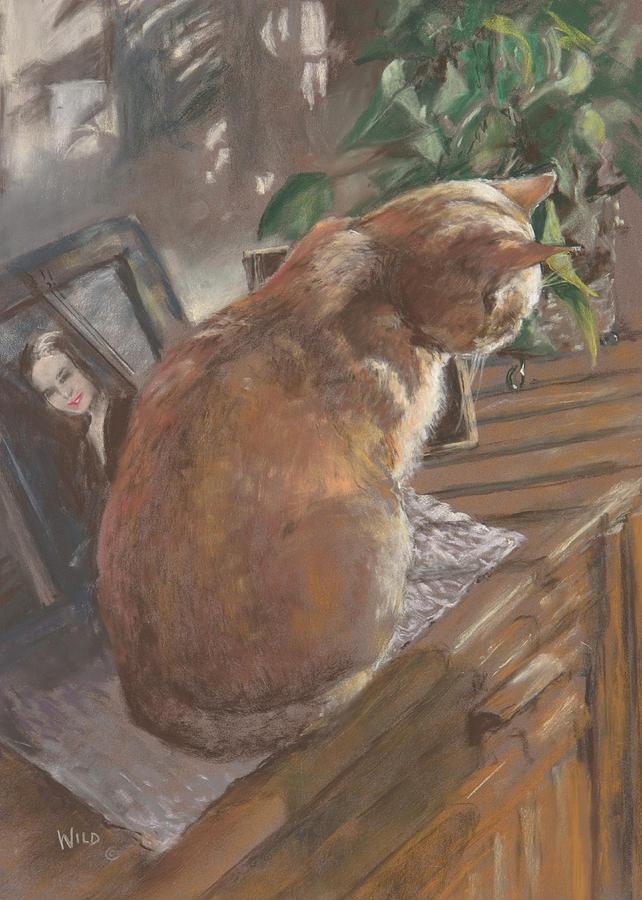 Cat Painting - Sun Seeker II by Paula Wild