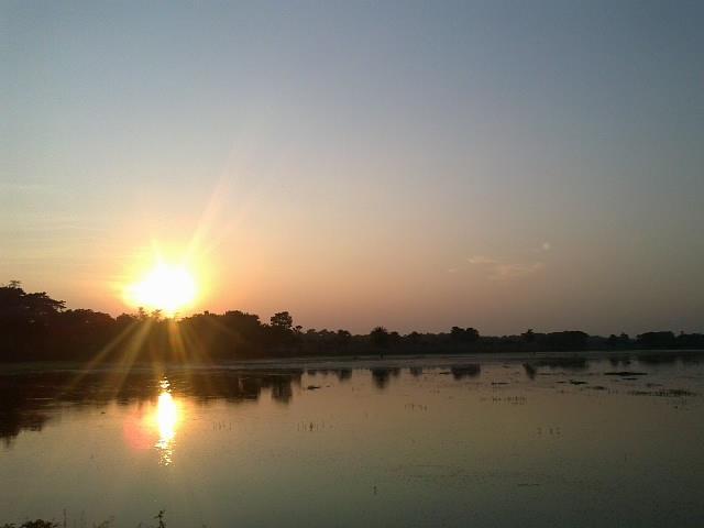 Sun Set Pyrography by Md  Asaduzzaman