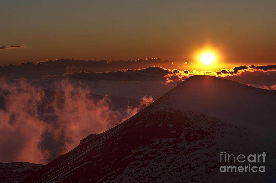Landscape Photograph - Sun Setting by Karl Voss