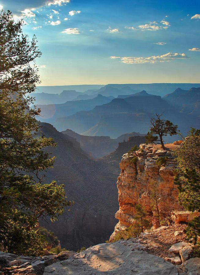 Sun Setting On Grand Canyon Photograph