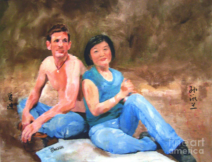 Couple Painting - Sun Shulan by Sharon Burger