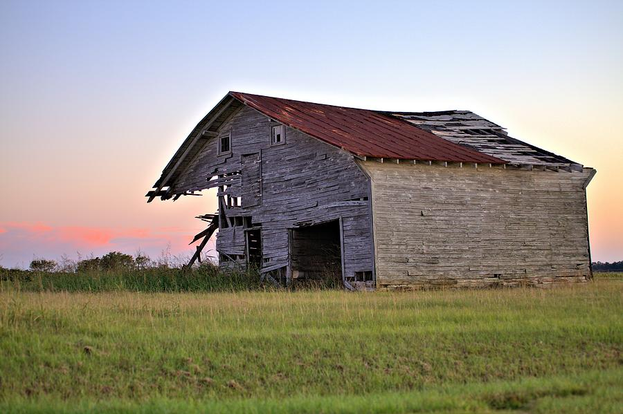 Barn Photograph - Sun Slowly Sets by Gordon Elwell