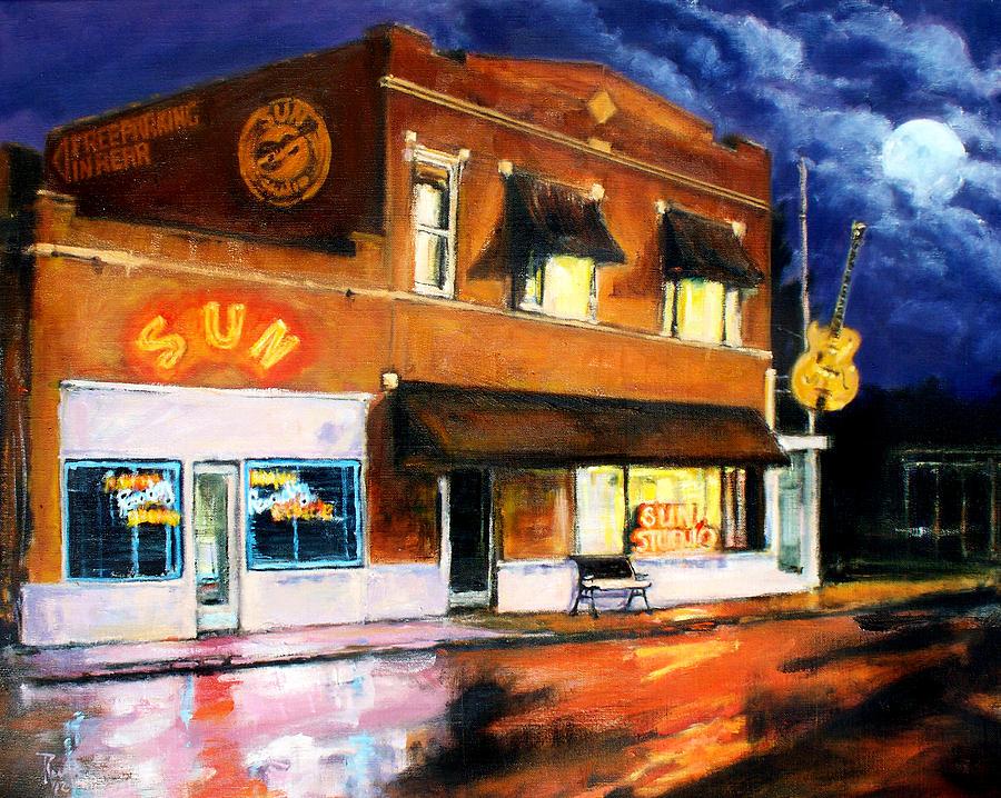 Robert Painting - Sun Studio - Night by Robert Reeves