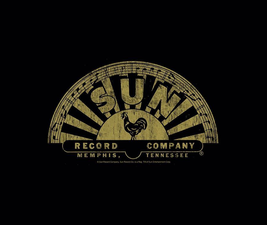 Sun Record Company Digital Art - Sun - Tattered Logo by Brand A