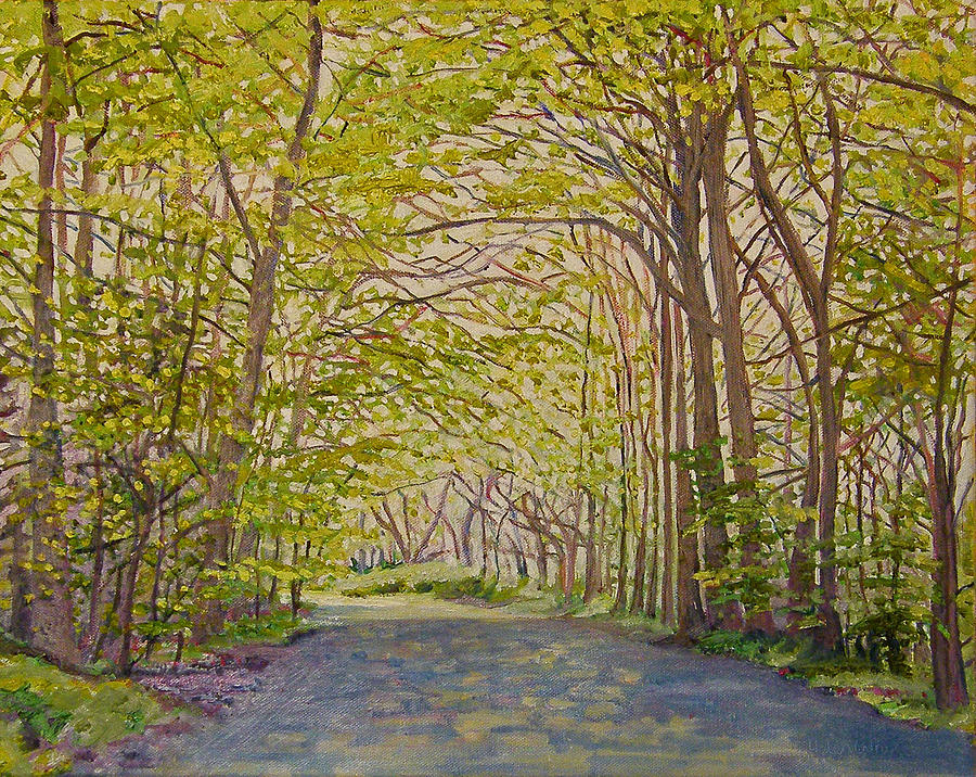 Lane Painting - Sun Through Trees by Helen White