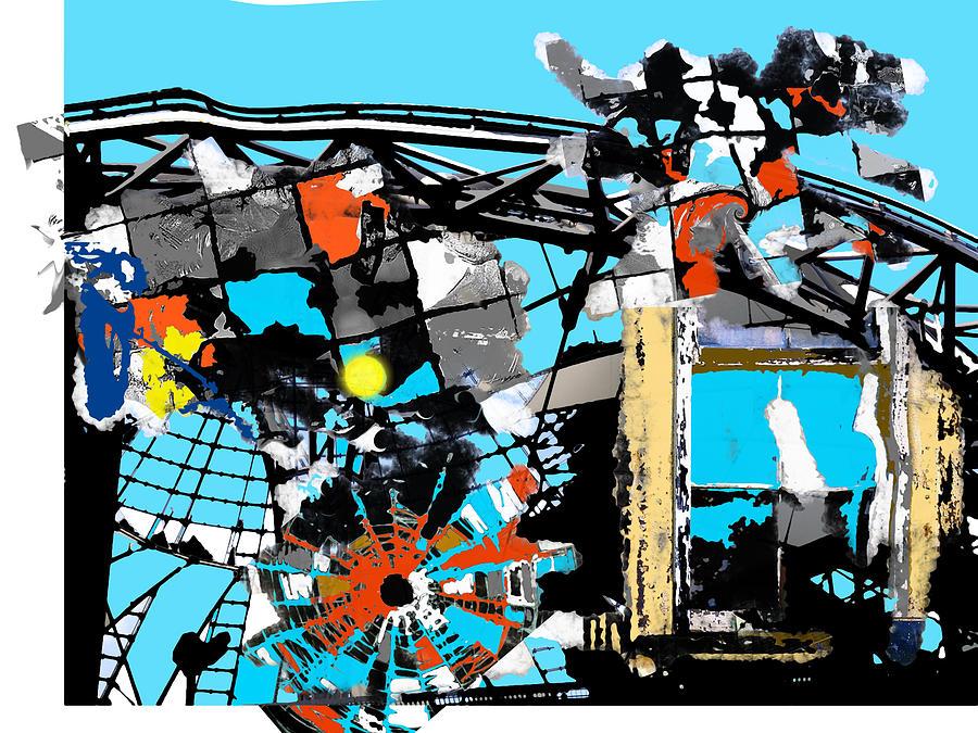 Sun View Trough Broken Dome Digital Art