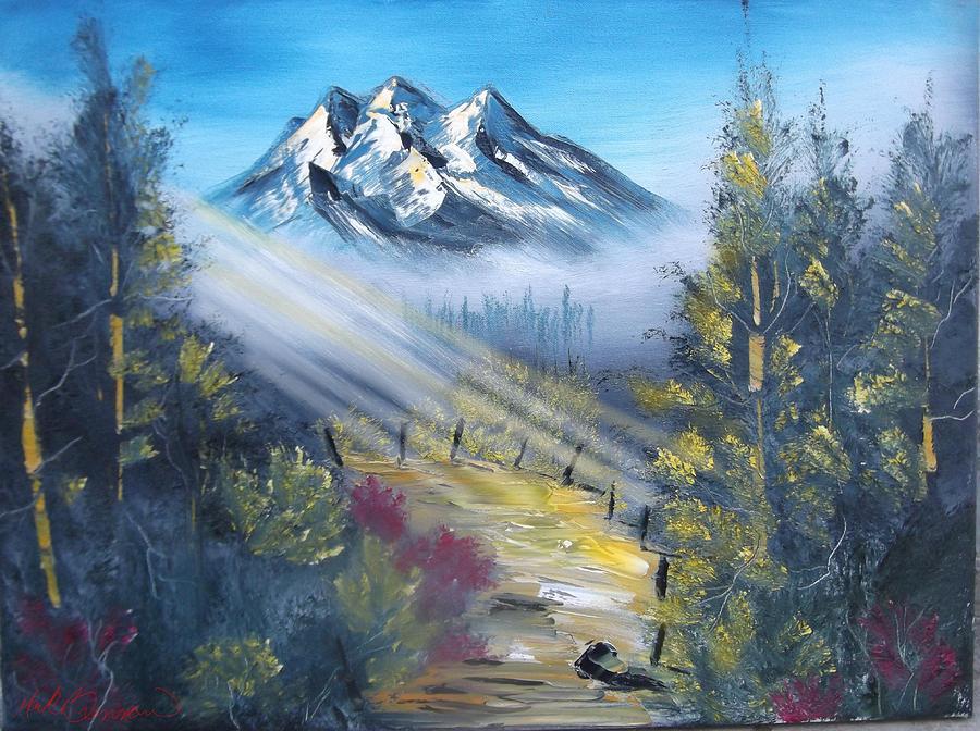 Landscape Painting - Sunbeam Path by Mark Brennan