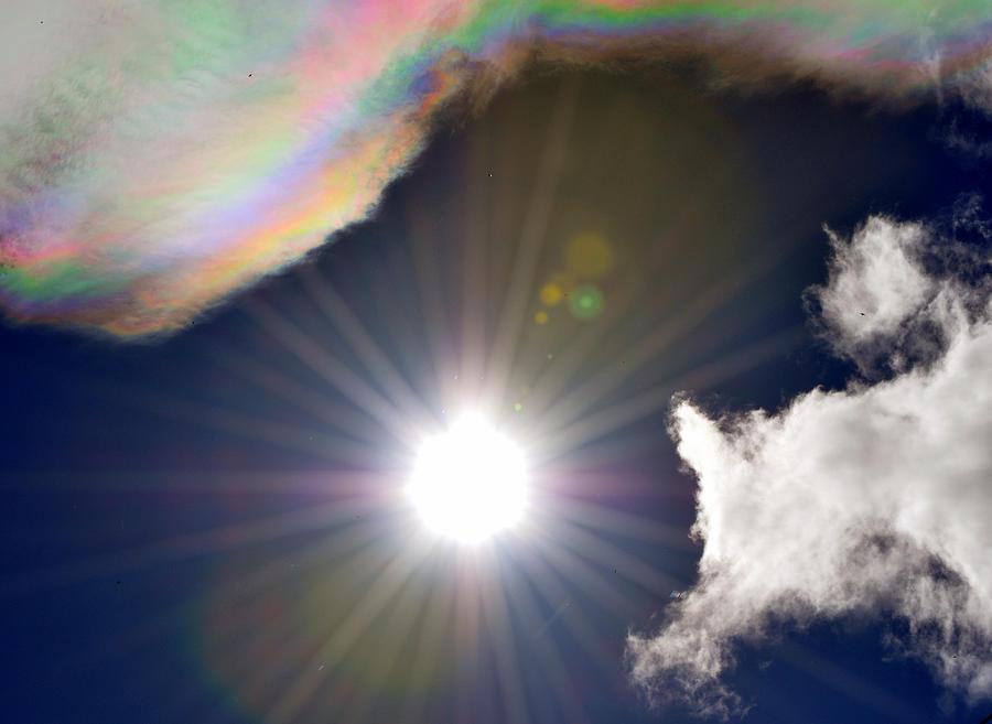 Sun Photograph - Sunbeams by Heather L Wright
