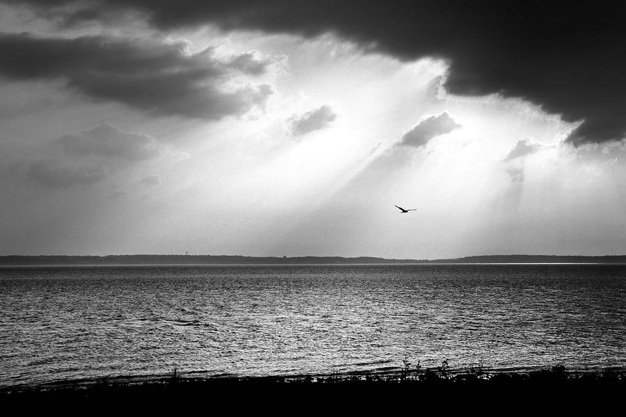Sunbeams over Lake Huron by Dylan Lees