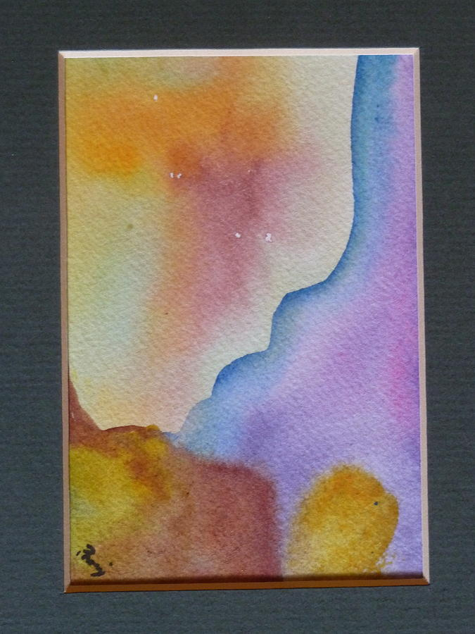 Small Watercolor Painting - Sunbeams by Phoenix Simpson