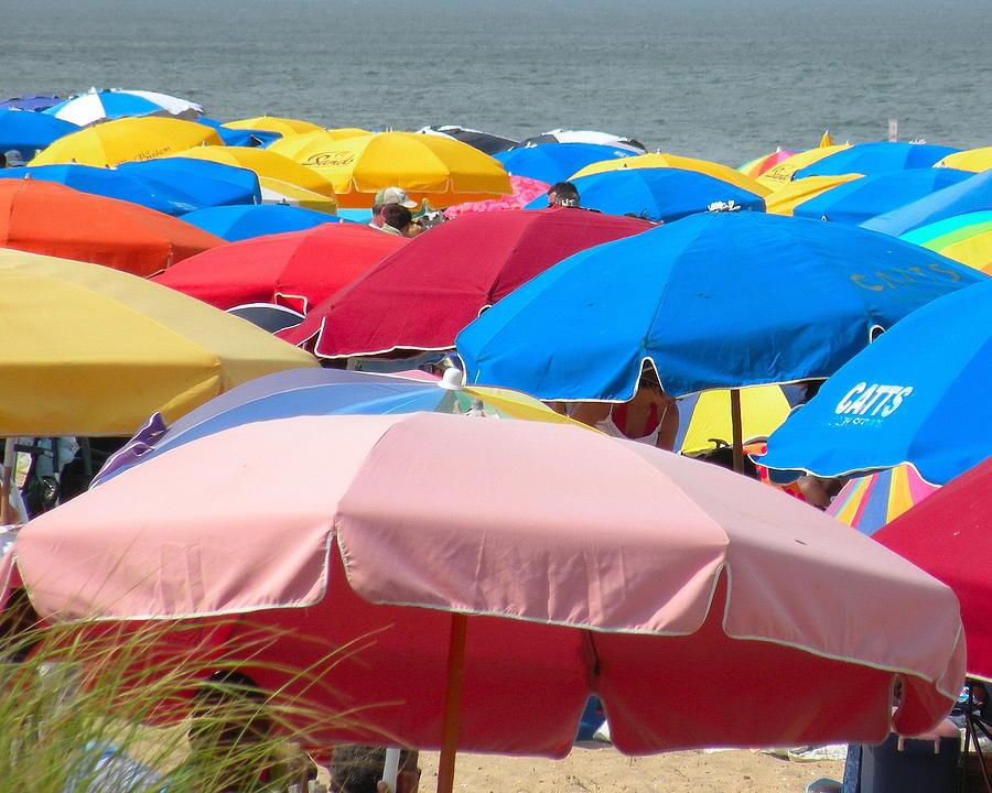 Beach Photograph - Sunbrellas by Kim Bemis