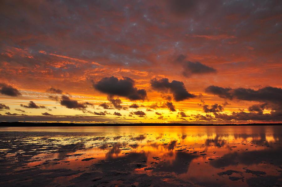 Sky Photograph - Sunburnt Sky by Sally Nevin
