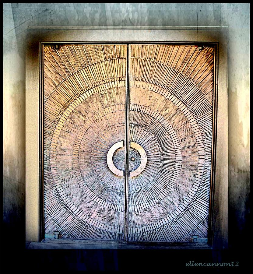 Door Photograph - Sunburst Double Door by Ellen Cannon & Sunburst Double Door Photograph by Ellen Cannon