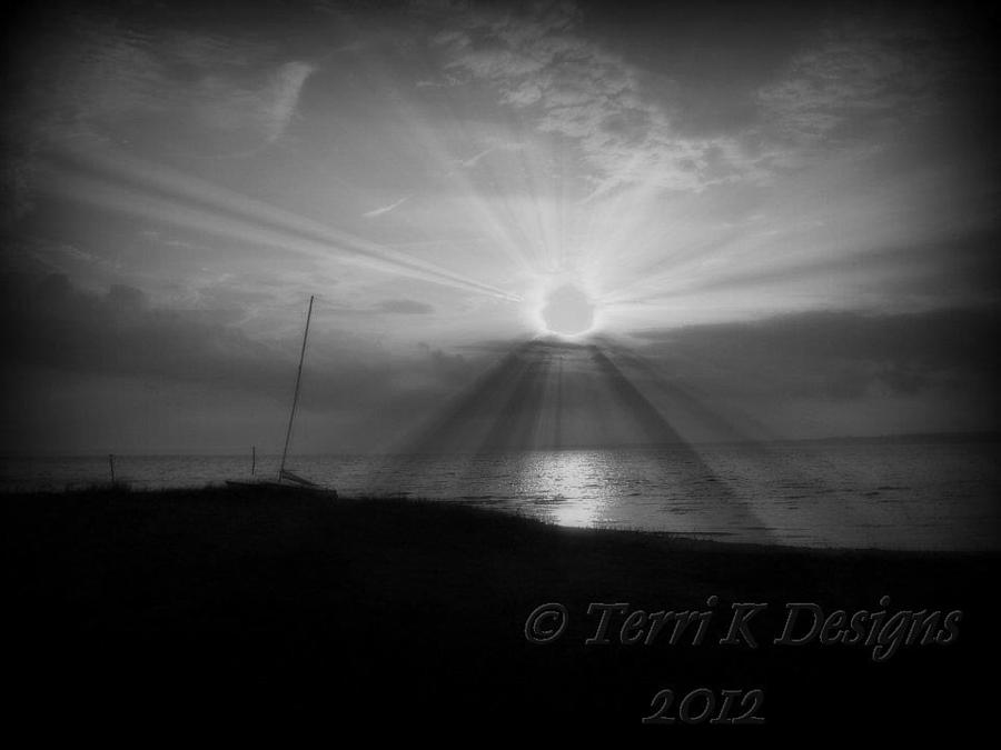 Sun Photograph - Sunburst by Terri K Designs