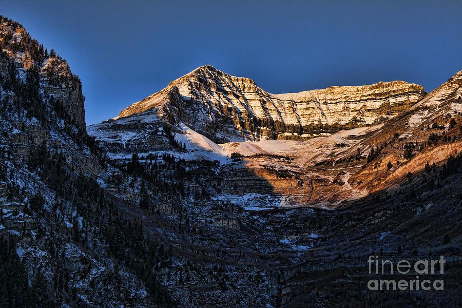 Sundance Aspen Photograph - Sundance Aspen-first Light V5 by Douglas Barnard