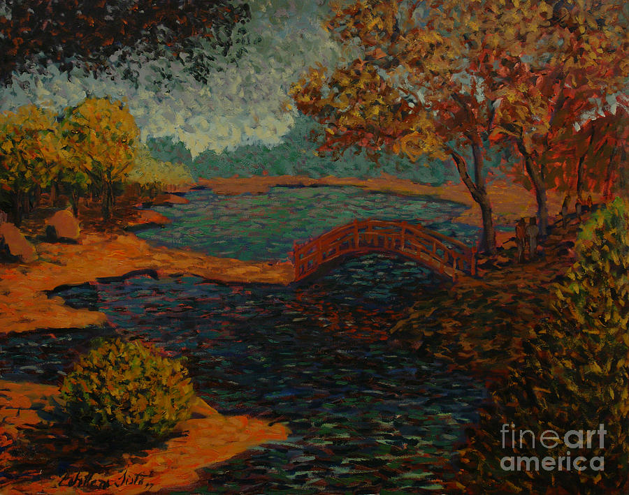 Lake Painting - Sunday At The Park II by Monica Caballero