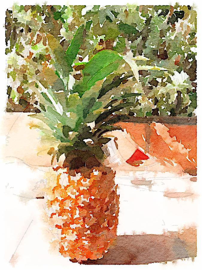 Pineapple Digital Art - Sunday Brunch by Shannon Grissom
