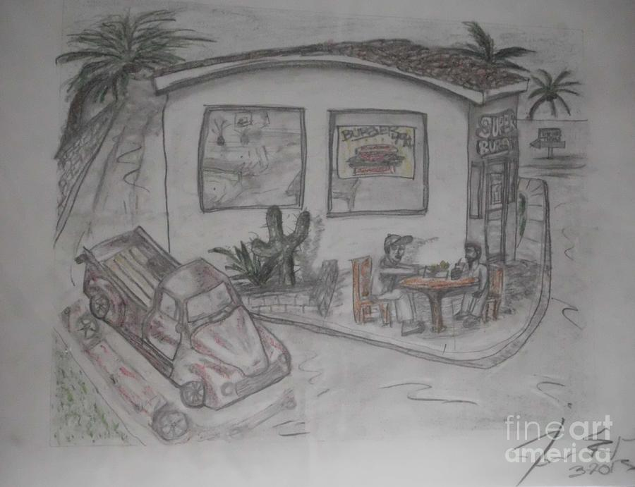 James Drawing - Sunday Drive Thru by James Eye
