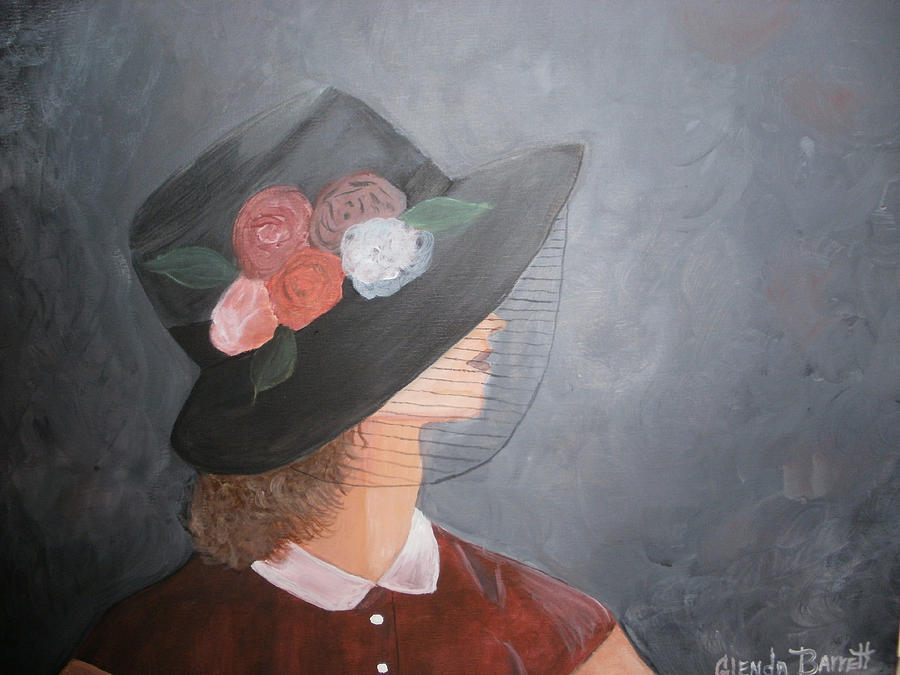 Original Painting - Sunday Hat by Glenda Barrett