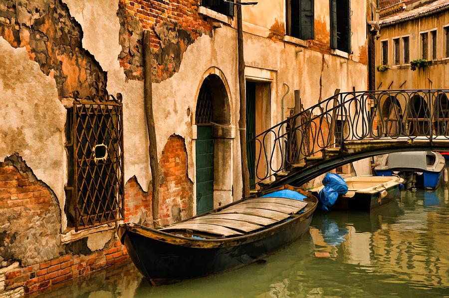 Venice Digital Art - Sunday In Venice by Mick Burkey