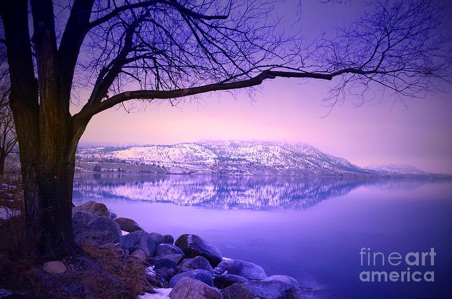 Mountains Photograph - Sunday Morning At Okanagan Lake by Tara Turner