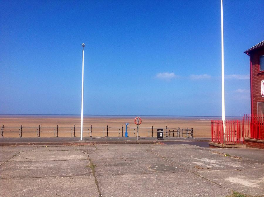 Beach Painting - Sunday Morning  by Judith Desrosiers