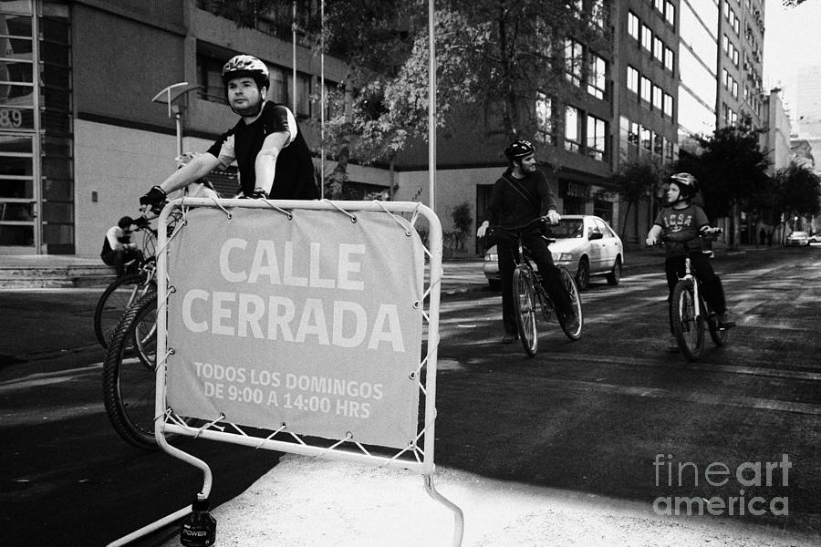 Sunday Photograph - sunday morning roads closed for cyclists and walkers Santiago Chile by Joe Fox