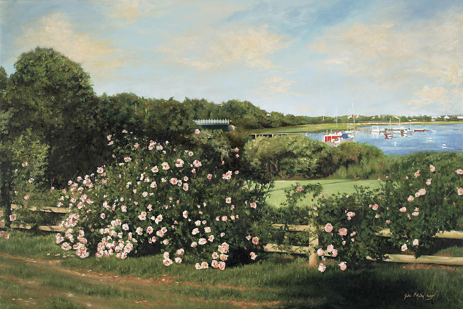 Cape Cod Painting - Sunday Morning Stroll by Julia OMalley-Keyes