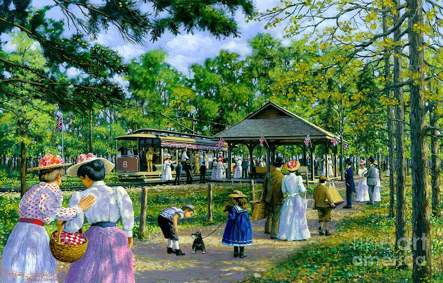 Nostalic Victorian Painting - Sunday Picnic by Michael Swanson