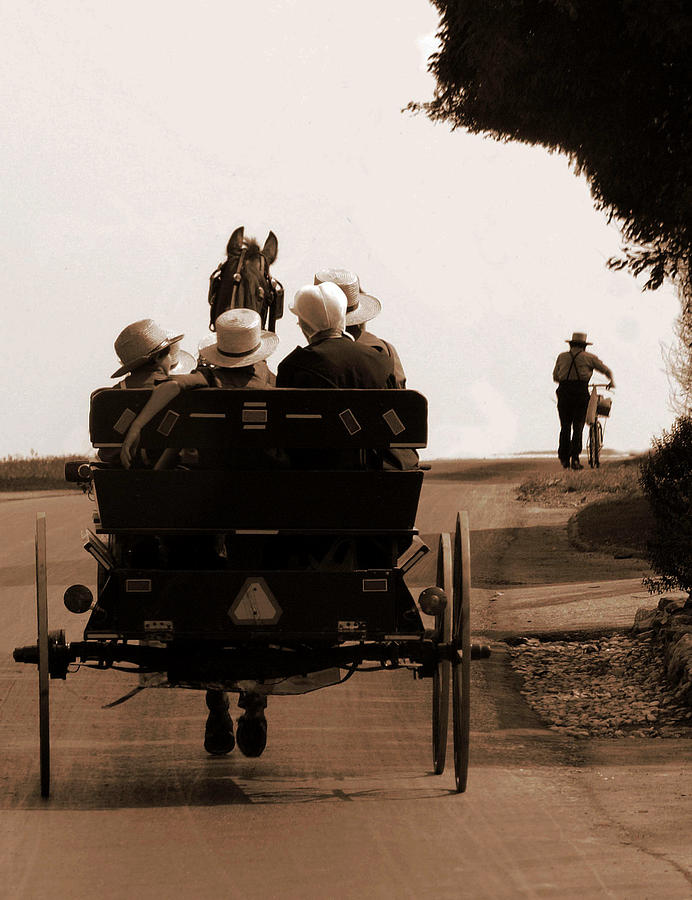 Amish Photography Photograph - Sunday Ride by Teri Moore
