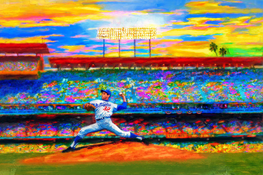 Sandy Koufax Digital Art - Sunday With Sandy by Alan Greene