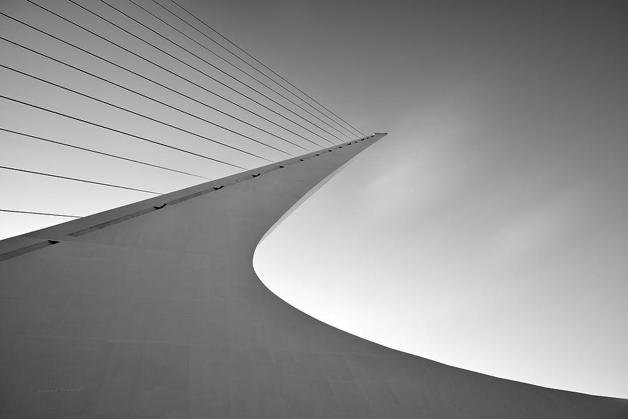 Balance Photograph - Sundial Bridge Bw 6 by Leland D Howard