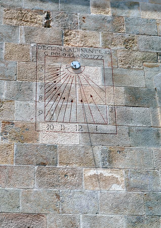 Solar Clock Photograph - Sundial by Ion Relu