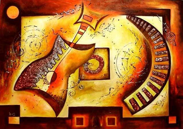 Abstract Painting - Sunetul Noptii by Mariana Oros