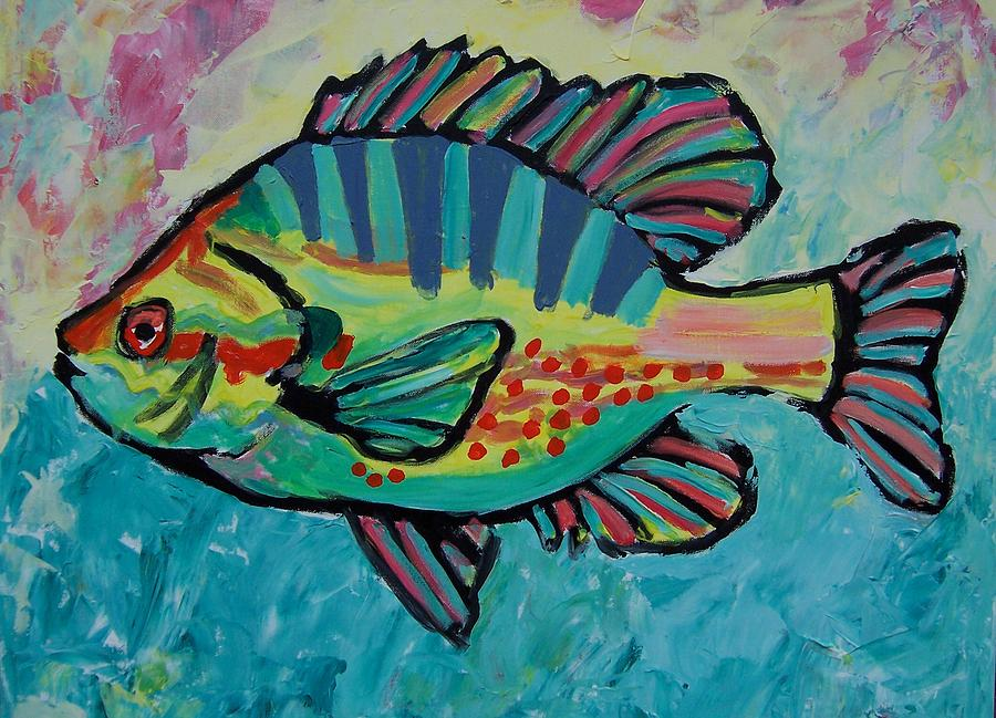 Abstract Painting - Sunfish by Krista Ouellette