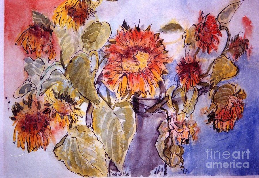 Sunflowers Painting - Sunflower 1 by Judith Van Praag