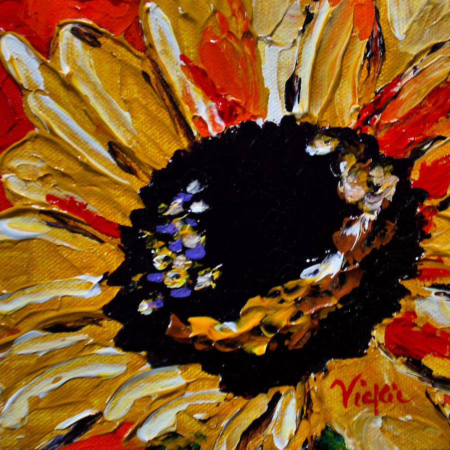 Sunflower Painting - Sunflower 2 by Vickie Warner