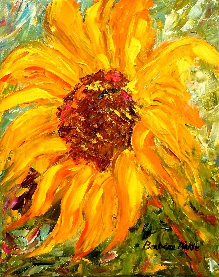 Flowers Painting - Sunflower by Barbara Pirkle