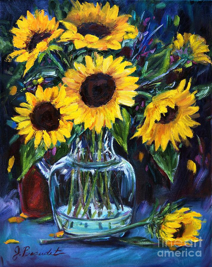 Flowers Painting - Sunflower Bouquet  by Jennifer Beaudet