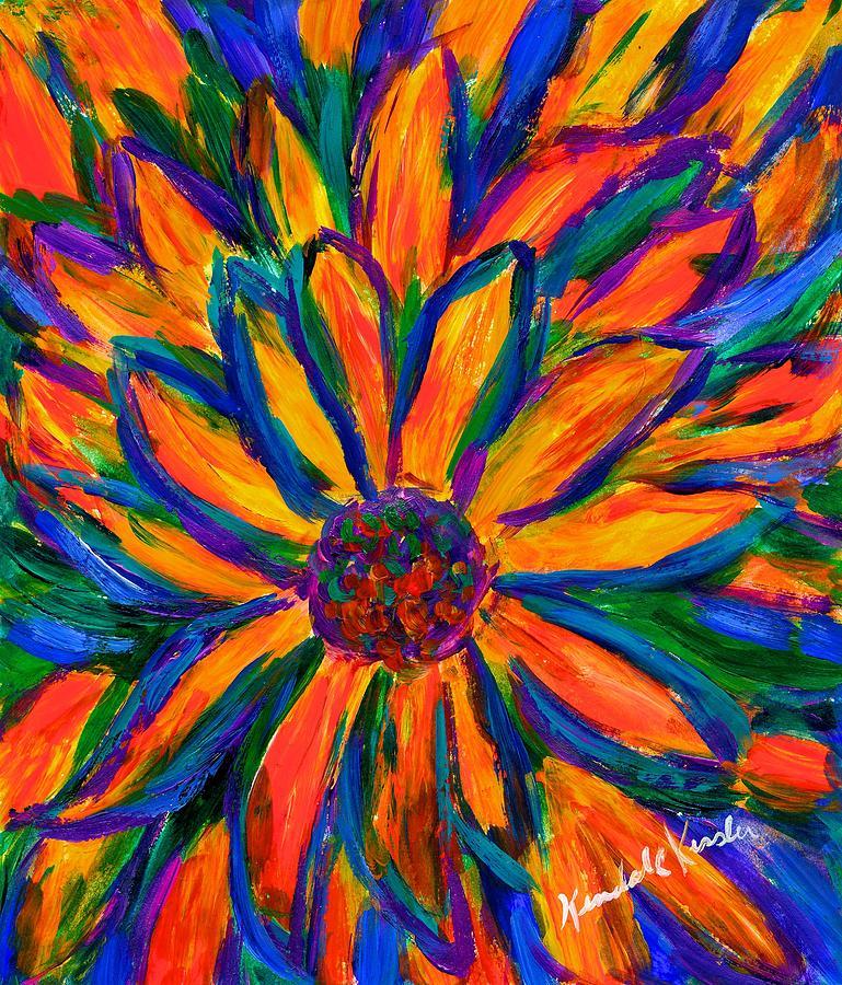Sunflower Painting - Sunflower Burst by Kendall Kessler
