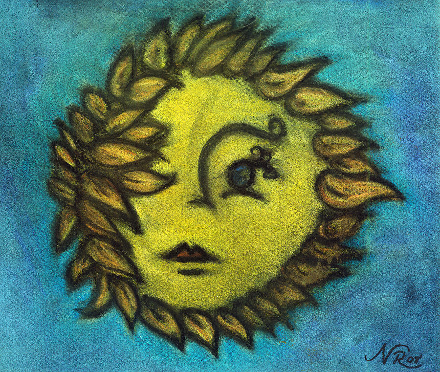 Portrait Painting - Sunflower Child by Natalie Roberts